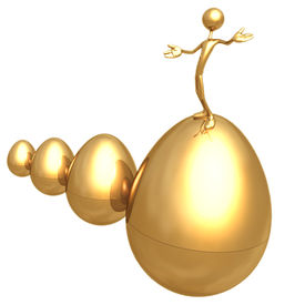 stock photo of nest-egg  - A Concept And Presentation Figure in 3D - JPG