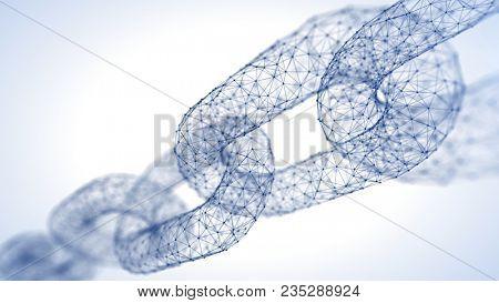 Block chain concept Chain consists