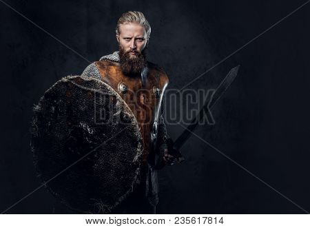 Artistic Portrait Of Scandinavian Viking