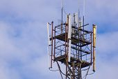 Telecommunication Cell Phone Tower Mobile Phone. Cell Phone Tower poster