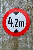 Traffic Sign Schild HöHenbegrenzung