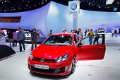 FRANKFURT - SEP 17: Volkswagen Golf GTI Edition 35 car shown at the 64th Internationale Automobil Au