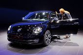 FRANKFURT - SEP 17: Volkswagen Beetle car shown at the 64th Internationale Automobil Ausstellung (IA