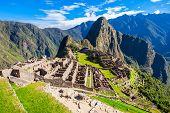 View Of The Lost Incan City Of Machu Picchu Near Cusco, Peru. poster