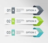 Infographic Arrows. Vector Design Template Of 3 Options, Steps, Parts. Can Be Used For Workflow Layo poster