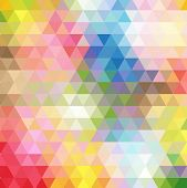 Abstract Multicolored Polygon, Low Polygon Background. Transfusion Of Color. All The Colors Of The R poster
