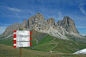 Sasso Lungo Mountain Landscape Of The Dolomites Of Val Di Fassa