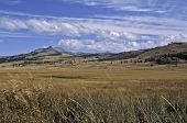 stock photo of lamar  - Lamar valley in autumn.