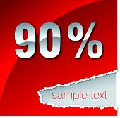 90 percent