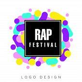 Rap Festival Logo Template, Creative Banner, Poster, Flyer Design Element For Musical Party Celebrat poster