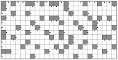 Crossword - Blank Crossword Puzzle Pattern, Horizontal Format Template, To Insert Any Words For A Cl poster