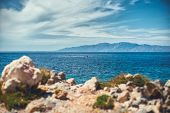 A Beautiful Seascape Off The Coast Of The Ancient City Of Knid. Turkey. Idyllic Seascape. poster