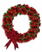 stock photo of christmas wreath  - Image and Illustration composition for Christmas holiday - JPG