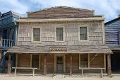 stock photo of old post office  - Post office in an old American western town - JPG