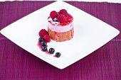 Strawberry and blackberry cake
