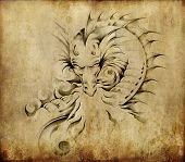 image of dragon  - Tattoo art - JPG