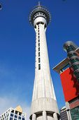 skytower in blue sky, Auckland, New Zealand