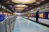 subway platform of Auckland Transport Center, New Zealand