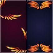 Flame Bird Fire Wings Banner Fantasy Feather Burning Blaze Fly Blazing Danger Flare Glow Fiery Burn  poster