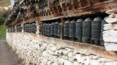 many prayer wheels