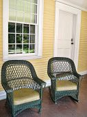 Chairs on a porch