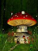 stock photo of midget  - Dwarfs land Mushroom house in the  dreamyland - JPG