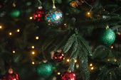 Defocused Christmas Abstract Blurred Background. poster