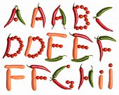 vegetable alphabet