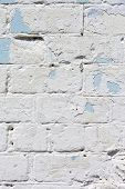 image of arriere-plan  - A white roughly textured brick wall painted with white paint - JPG