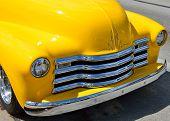 Bright Yellow Customized Pickup Truck