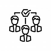Black Line Icon For  Team-motivation Team Motivation Impellent Encourage Persuasive poster