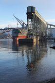 Cargo Ship Loading, Burrard Inlet, Vancouver