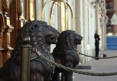 Wooden Lion Sculptures