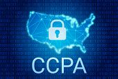 Ccpa - California Consumer Privacy Act. Vector Background. Consumer Protection For Residents Of Cali poster