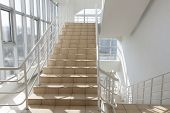The Staircase - Emergency Exit In Hotel, Close-up Staircase, Interior Staircases, Interior Staircase poster