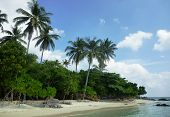 image of promontory  - The beautiful Gelam beach located on the promontory of the island of Java Karimun - JPG