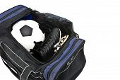 football and soccer shoe in bag