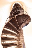 Spiral Stairs Inside The Cape Florida Lighthouse poster