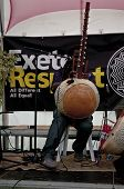 Modou N'Diaye performing live in the Acoustic Cafe at the Exeter Respect Festival 2012