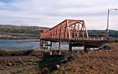 The Dalles Steel Bridge Over The Columbia River Washington Lands