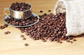 Coffee Beans And Cap Of Coffee Beans