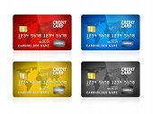 Credit Card Collection Isolated