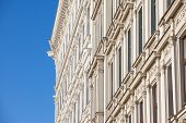 Typical Austro-hungarian Facade Of A Baroque Appartment Residential Building In A Street Of Innere S poster