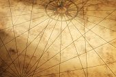 Background Image With Paper Texture And Compass
