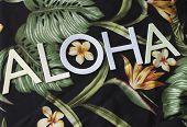 Aloha On Textile