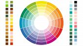 Color Scheme. Circular Color Scheme With Warm And Cold Colors. Vector Illustration Of A Color poster
