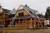 A New Custom Home Under Construction