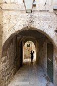 Person Silhouette - Gate In Dubrovnik