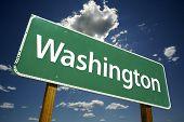 Постер, плакат: Вашингтон дорожный знак