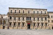 Palacio del seminario. Lecce. Puglia. Italia.